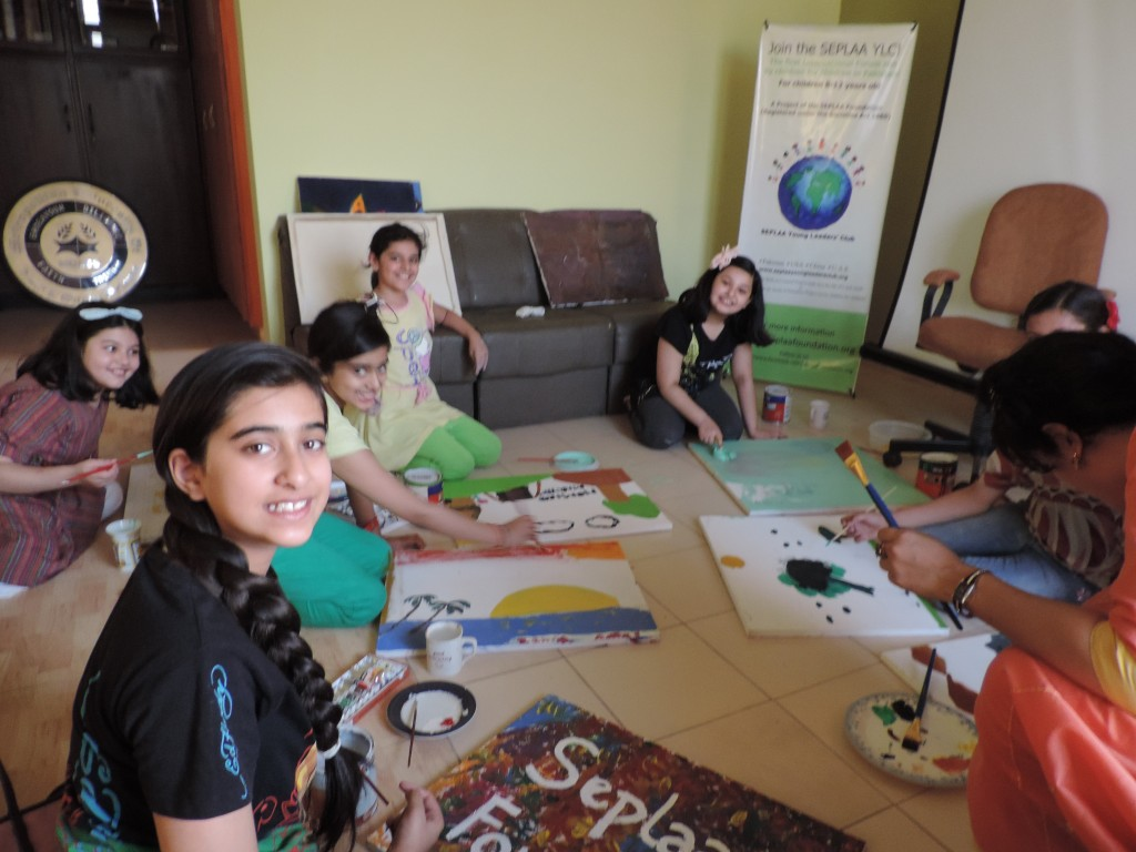 'Caring Artists' at the SEPLAA Young Leaders' Club